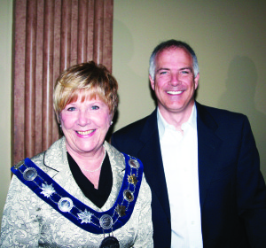 Mayor Marolyn Morrison welcomed Scott Kress of Summit Group to her recent business breakfast.