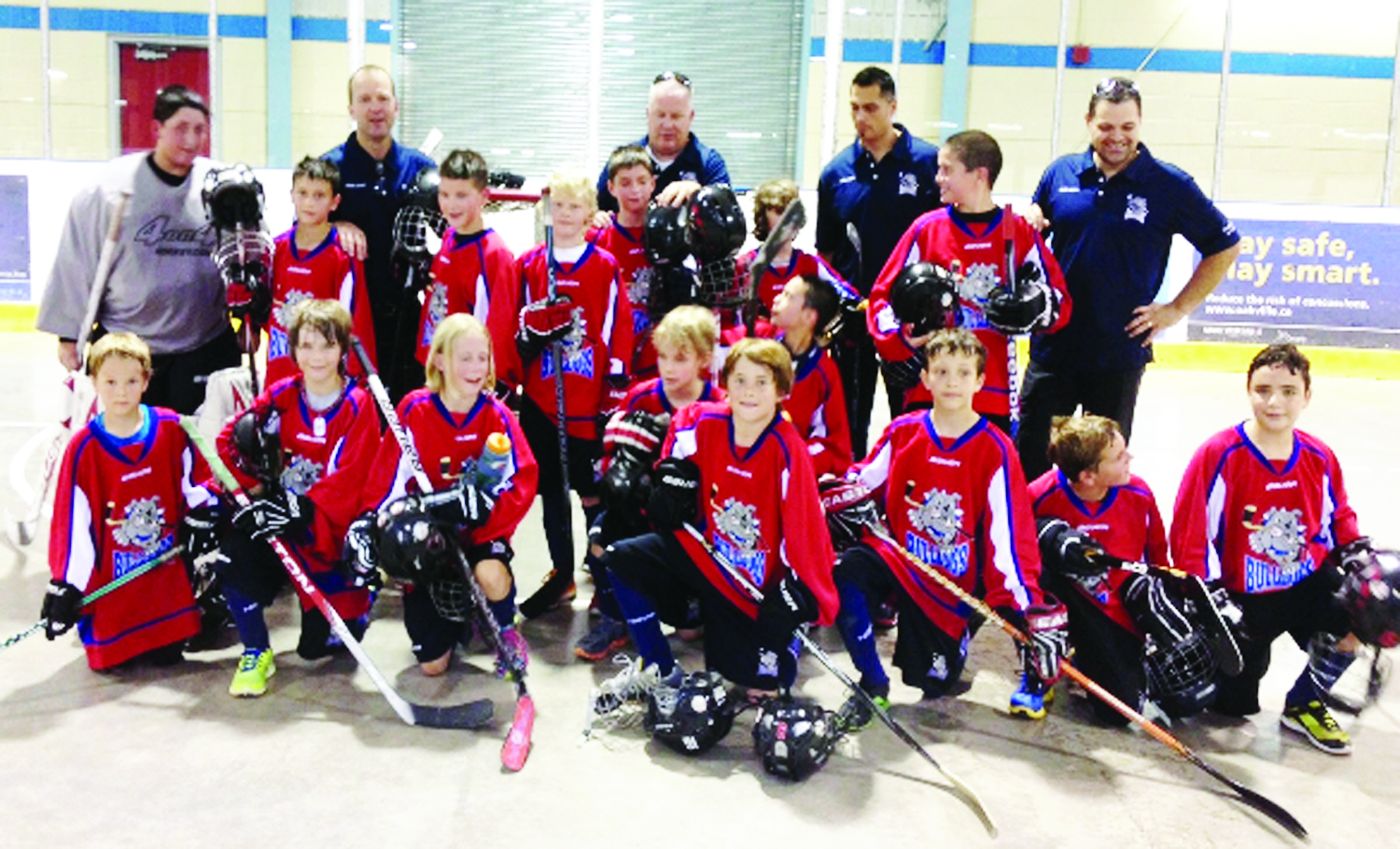 Blueprint atom bulldogs compete at provincials in oakville caledon the caledon blueprint bulldogs sent their first rep ball hockey team to compete in the ontario malvernweather Image collections