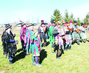 It might still be winter, but the weather Family Day Monday was too nice for many to stay at home. Normal winter activities might not have been possible, but there were still fun events to help people mark the holiday. These colourful members of the Orange Peel Morris Dancers were performing at the fifth Annual Family Day Wassailing Festival at Spirit Tree Estate Cidery. Photo by Bill Rea