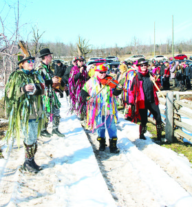 The fifth Annual Family Day Wassailing Festival was held at Spirit Tree Estate Cidery, in support of Bethell Hospice. It was following an old English tradition to seek a good apple harvest this year. Members of the Orange Peel Morris Dancers led the musical procession to the orchard. Photos by Bill Rea
