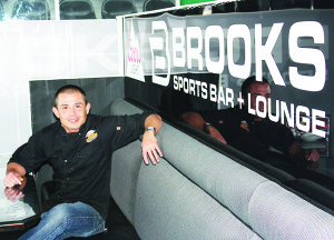 Krystian Catala of Brooks Sports Bar and Lounge in Bolton.
