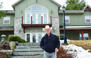 Teen Ranch founder Mel Stevens stands in front of the Coach House residence at the camp's property on Highway 10 in Caledon. The Ranch is currently celebrating its 50th anniversary of operation.  Photo by Brian Lockhart