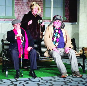 Walter Stewart, Ginny Cathcart and Ivor Cathcart will be appearing in the Blackhorse Theatre's production of A Bench In The Sun.