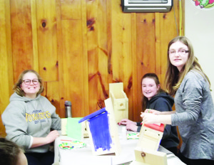 These young Peel 4-H members were hard at work making bird houses as part of their activities in the Birdwatching Club.