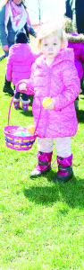 Abby Kurtes, 2, of Mississauga collected lots of Easter eggs.