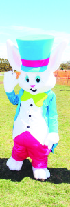 This Easter Bunny was all decked out for the occasion.