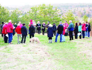 There was also a large gathering hosted by the Caledon Optimists Club at the top of the Alton Pinnacle. Photos by Bill Rea