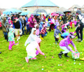 What would Easter weekend be without young folks scrambling into a field to collect Easter eggs? The annual Easter Egg Hunt in Dennison Park was arranged by the SouthFields Village Residents' Group and Renew Church, and even the threatening weather couldn't dampen the enthusiasm.