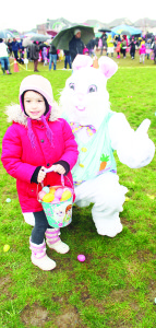 The Easter bunny was on hand to make sure everyone was having a good time, including Sofia Arruda, 5.